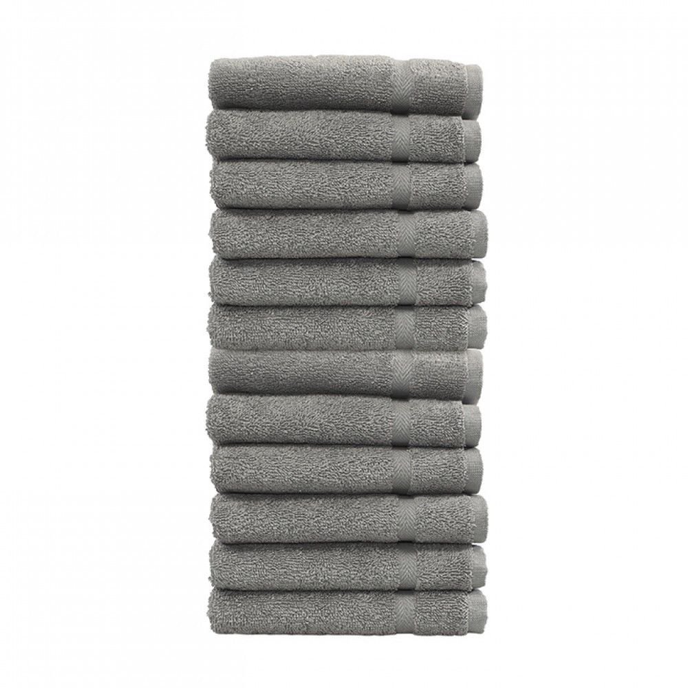 Airinstore WHOLESALE 2 DOZENS 24 NEW CHARCOAL GREY SALON GYM SPA HAND TOWELS 16X27 PREMIUM