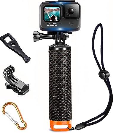 MiPremium mango flotante resistente al agua compatible con cámaras GoPro Hero 5 Session Black Silver Hero 2 3 3+ 4. Mango y kit de accesorios de ...
