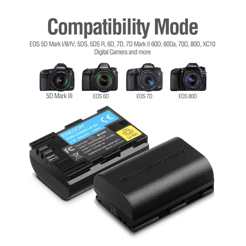 LP-E6 Batería de Repuesto (Paquete de 2) y Smart LED Cargador Dual ...