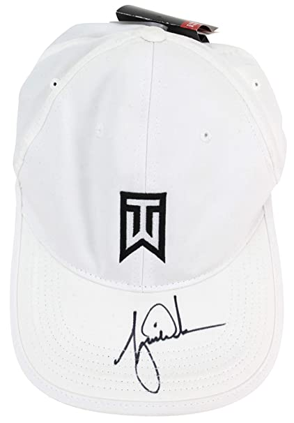 Amazon.com  Tiger Woods Authentic Signed White Nike Tiger Woods Collection  Hat JSA  Z88158  Sports Collectibles 9df5619a957