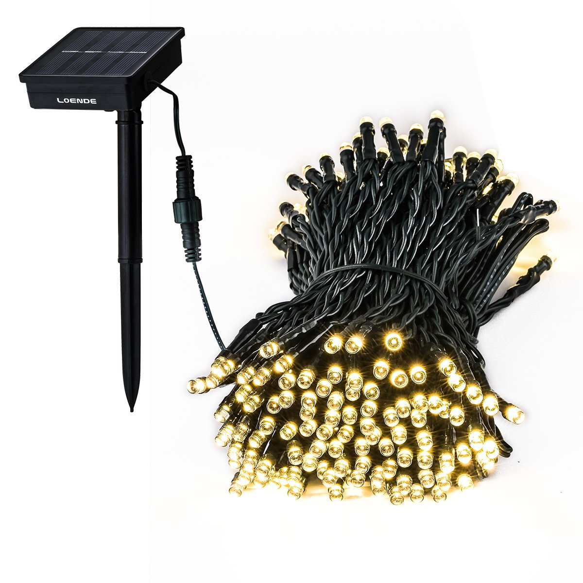 Loende Solar Outdoor String Lights Waterproof 72Ft 200 Led 8 Modes Fairy Gard.. 12