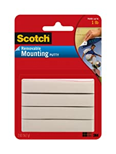 Scotch Brand 860 Adhesive Putty Removable, 2 oz, Multicolor
