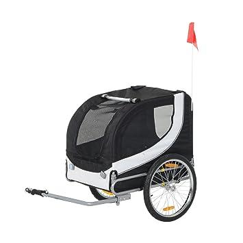 Pawhut – Remolque plegable para bicicleta de perro mascota bicicleta Jogger Travel Carrier