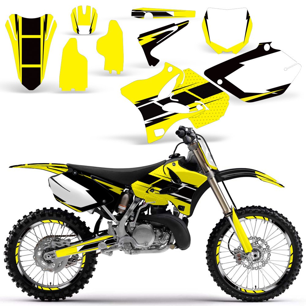 2002-2014 Yamaha YZ 125/250 Full Decal Kit Design Black and Yellow Wholesale Decals