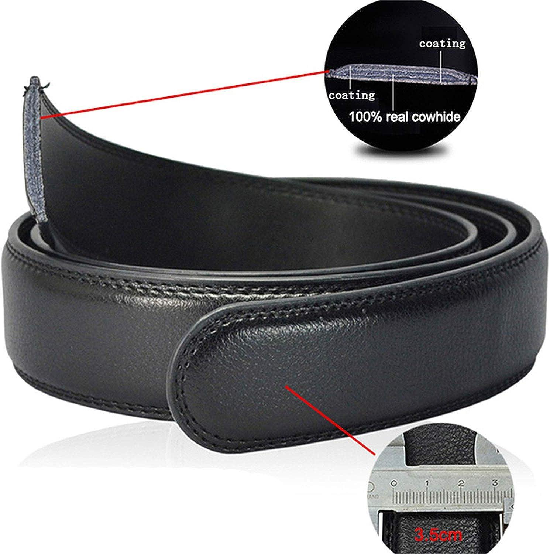Belt Men Leather Belts for Men Strap Metal Automatic Buckle,ne321,95cm 24to27 Incn