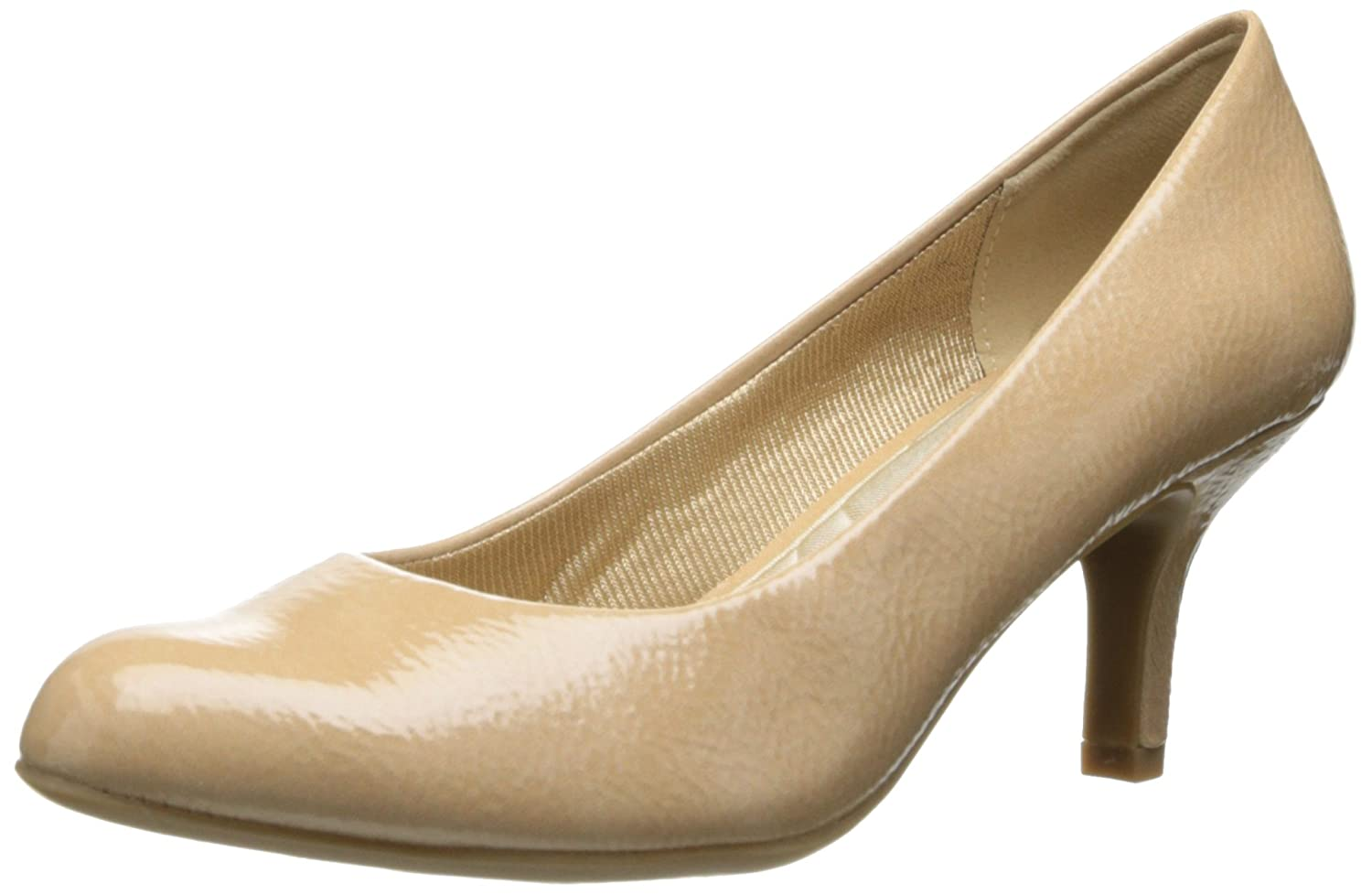 Easy Street Women's Passion Dress Pump B00F4RHX0Y 6.5 B(M) US|Taupe Crinkle Patent