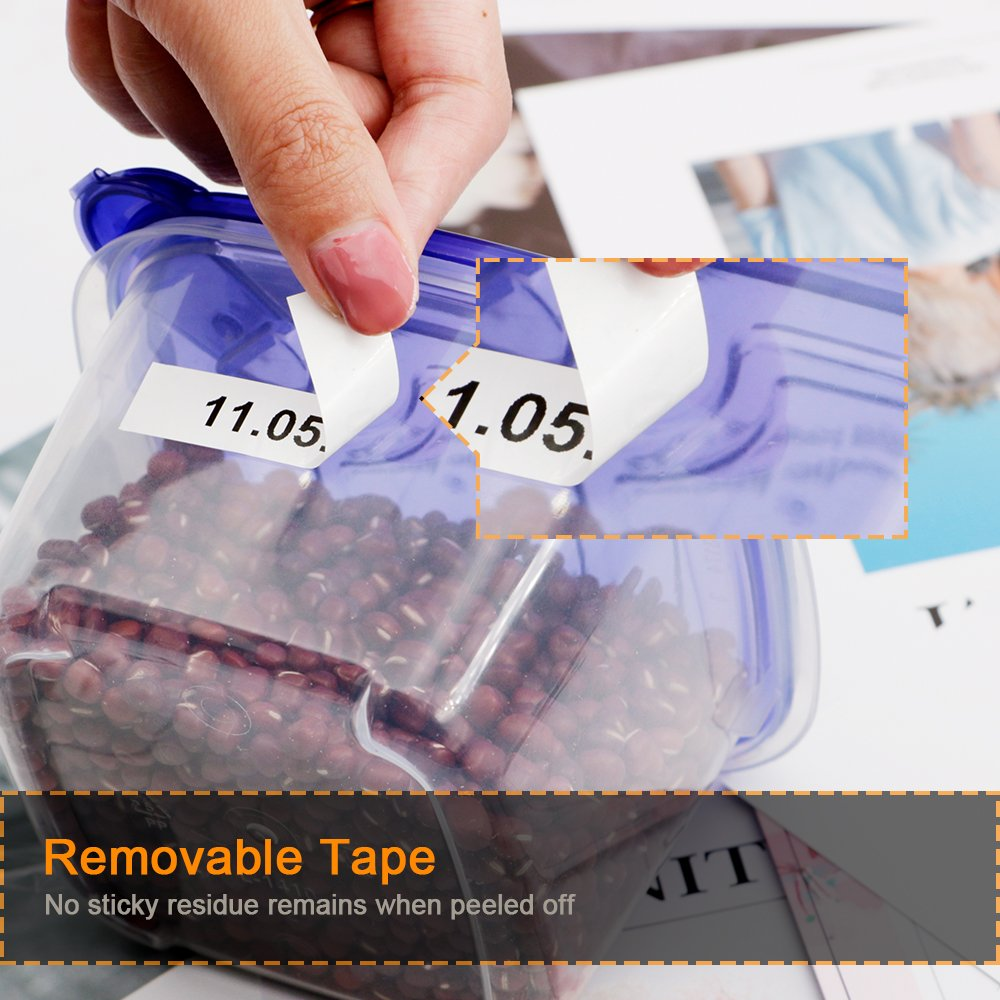 18mm Black On White Standard Laminated Label Tape Tze 241 Compatible Brother S241 For P Touch