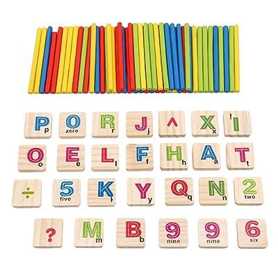 Lalang Bois nombres mathématiques apprentissage comptage jouet, jouets éducatifs pour enfant