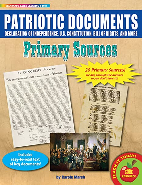 Patriotic Documents Primary Sources Pack (20): Carole Marsh ...