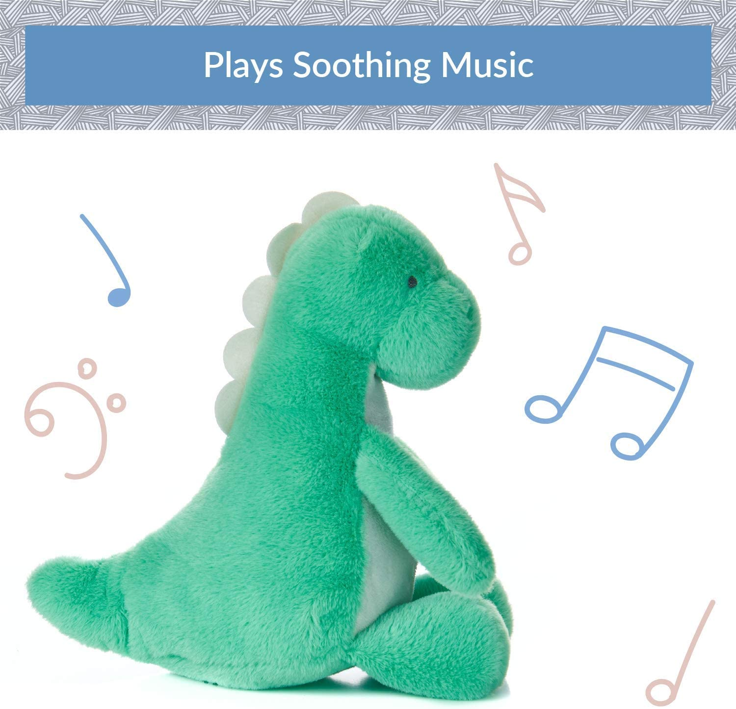 9 Inches KIDS PREFERRED Carter/'s Waggy Musical Dino Stuffed Animal Plush Toy