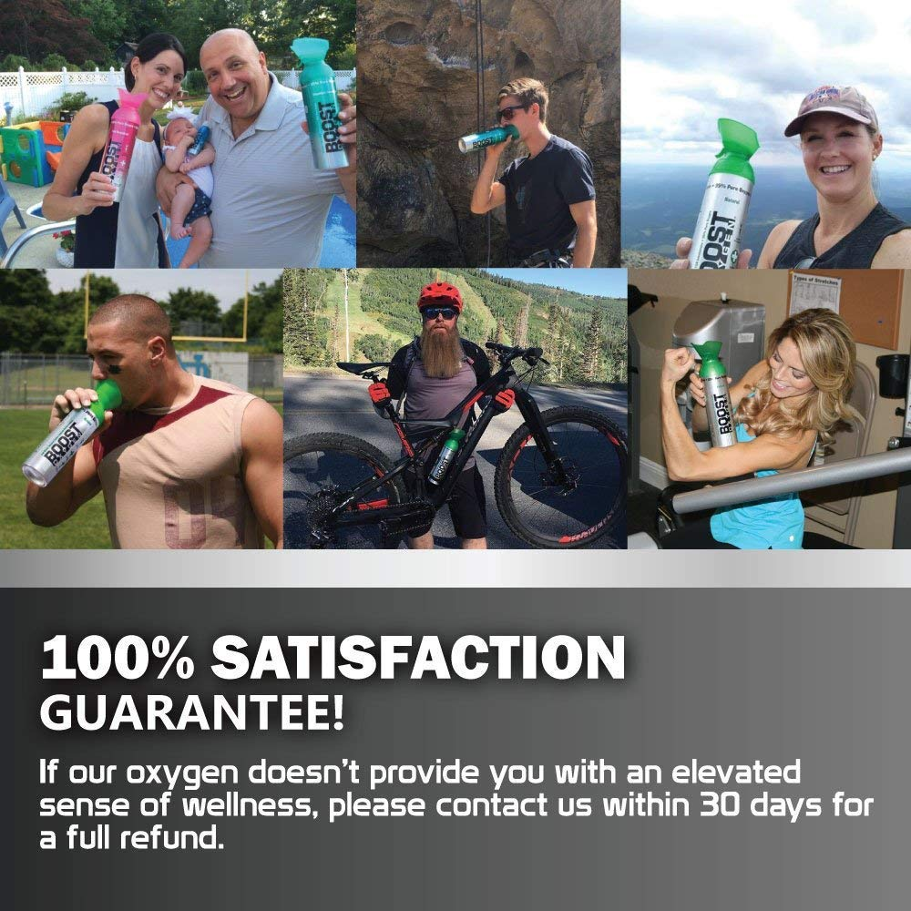 95% Pure Oxygen Supplement, Portable Canister of Clean Oxygen, Increases Endurance, Recovery, Mental Acuity and Performance (10 Liter Can, Natural, 7-Pack)