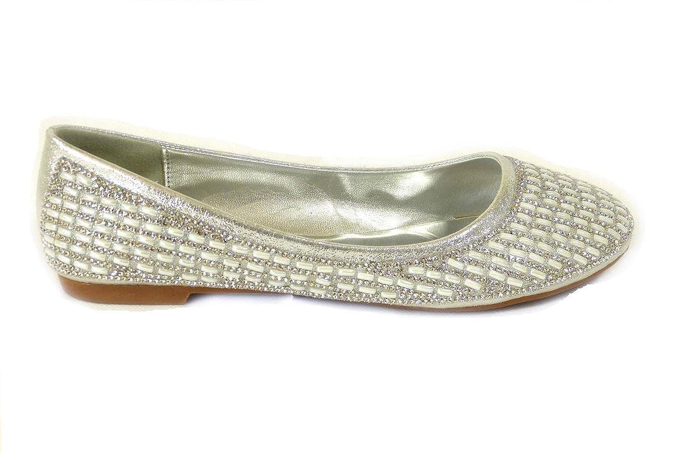 de92eee9f78 New Womens Bridal Diamante Wedding Ladies Sparkly Slip ON Bridesmaid Shoes  Pumps Size 3 4 5 6 7 8  Amazon.co.uk  Shoes   Bags