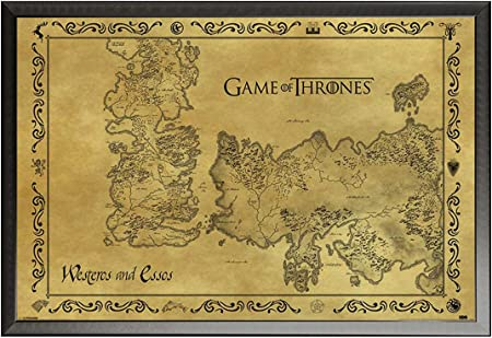 Empire Interactive Game of Thrones Poster Antique Map + Accessories ...
