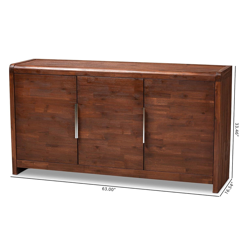Brown//Silver Baxton Studio 162-10431-AMZ Sideboard