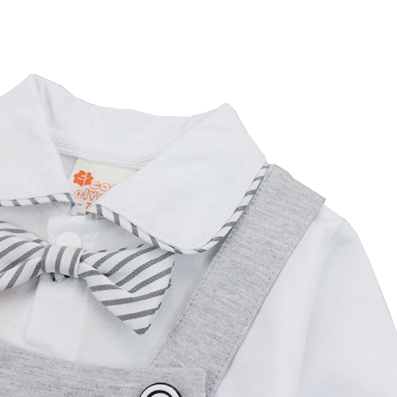 MTSCE Baby Boys Romper Jumpsuits Bow Tie Gentleman Long Sleeve Onesie Toddler Outfit