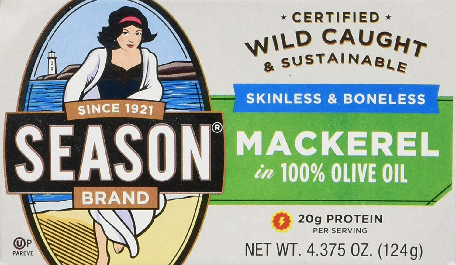 Season Fillets of Mackerel in Olive Oil, 4.375-Ounce Tins (Pack of 12)