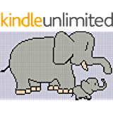 Elephant Mom and Baby Cross Stitch Pattern (English Edition)