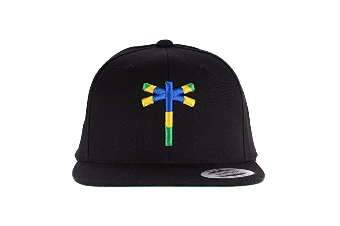 ff6e6cbfd52 Image Unavailable. Image not available for. Colour  Palmeramia Men s Classic  Snapback Brazil WC One Size Black