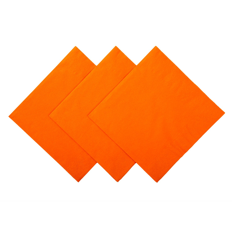 Royal Orange Beverage Napkins, Case of 1,000