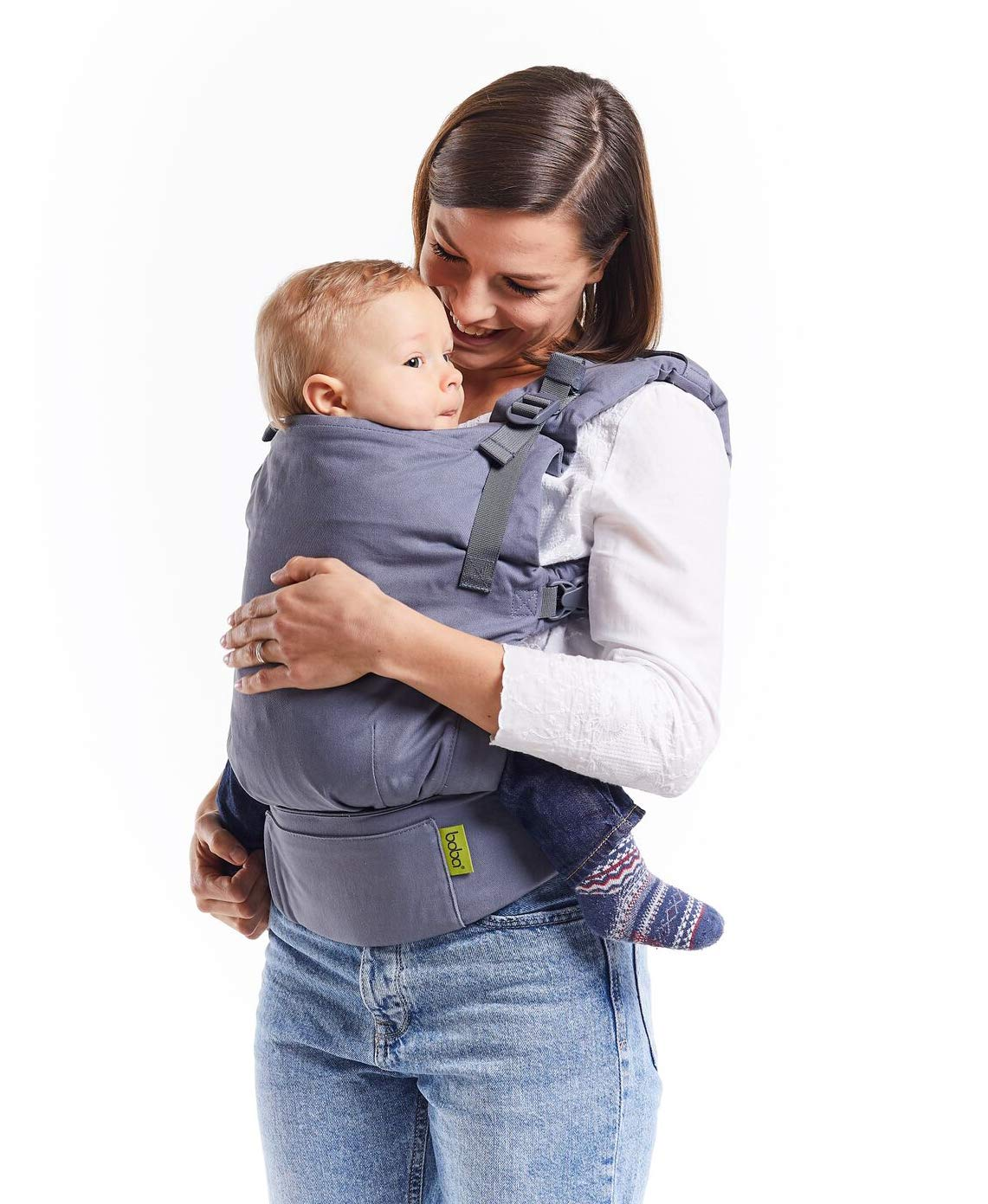 Boba X Adjustable Baby and Toddler Carrier - Front and Back Carrier - Grey