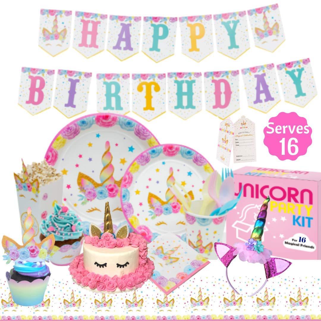 Unicorn Party Supplies Kit