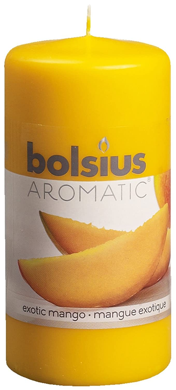 Bolsius 871784 Candela Profumata al Mango, Cera, Giallo, 6 x 6 x 12 cm 103626640110