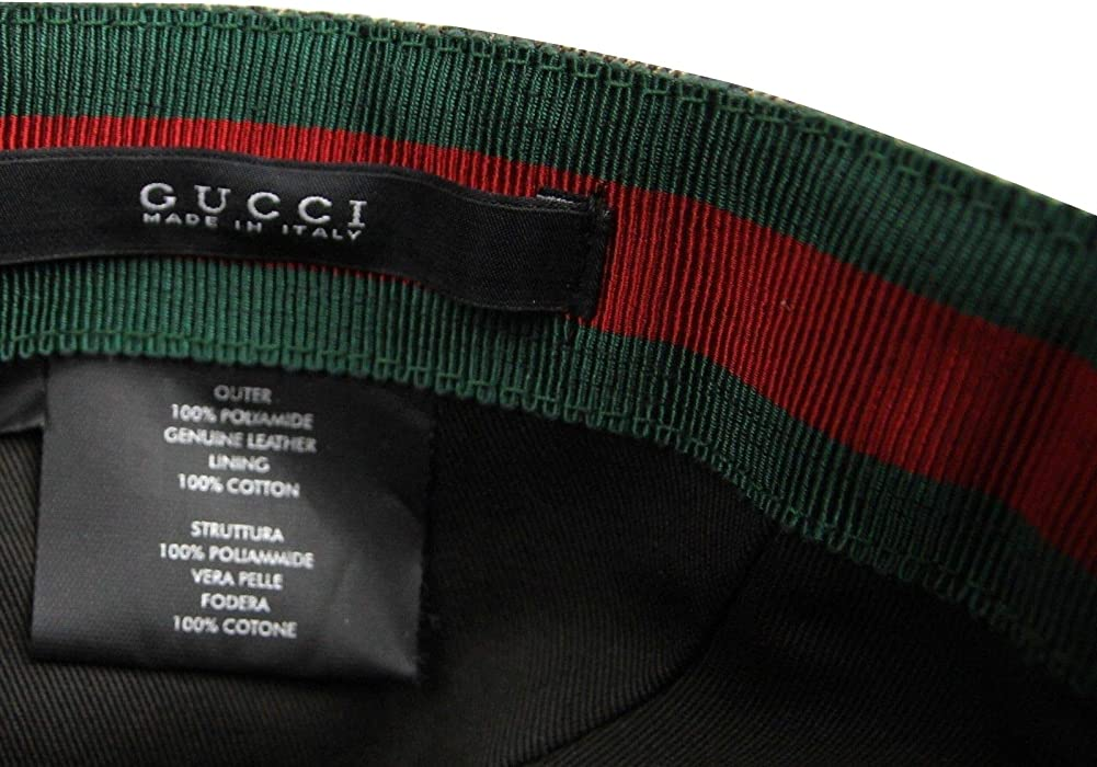 06748e4cf50 ... Gucci Unisex Diamante Brown Nylon Baseball Hat with Trademark Logo  268897 9643 (XL) ...
