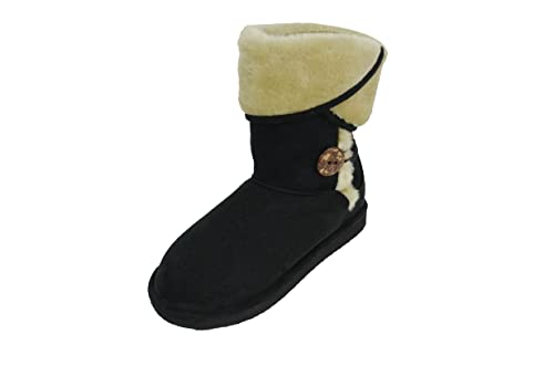4f871b663e692 Chulis Women s Black Faux Fur Cold Weather Boots (GG-04) 5 ...