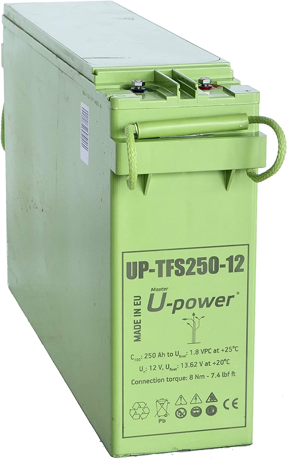Master U-Power Batería Solar, AGM TFS 250AH 12V, FTS, UP-TFS250-12