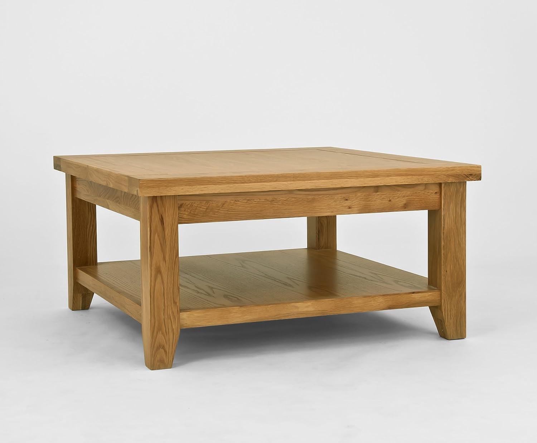 Chiltern Grand Oak Square Coffee Table Amazon Co Uk Kitchen Home