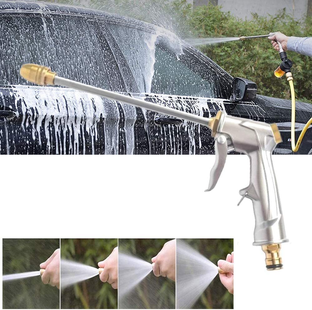 YUIOLIL Garden Hose Expandable Water Gun Nozzle Water Spray Adjustable High Pressure Washer For Plant Flower Household Cleaning Car Washer Blue