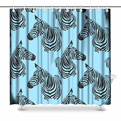 InterestPrint Animal Print Skins And Zebra Country House Image Fabric Bathroom Shower Curtain