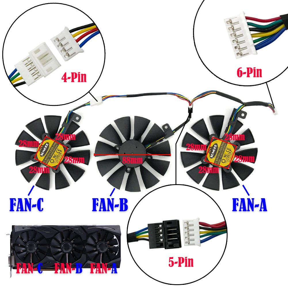 Fan-A 1Pcs Fans & Cooling 88MM PLD09210S12M and ... on