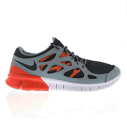 best service a6d3c 0c991 Nike Free Run 2 537732 Uomo Low-Top Sneaker, (Grau Orange