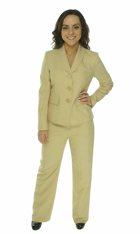 Le Suit Womens Boboli Gardens Business Suit Jacket & Pant Set Bamboo 4P