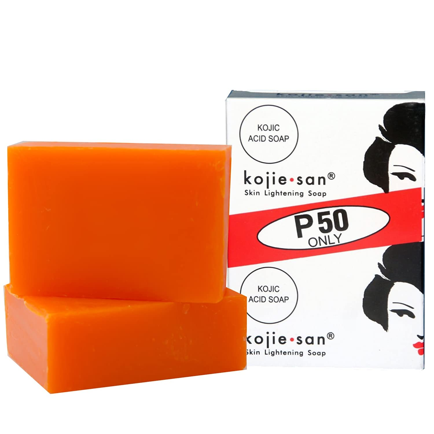 2 Bars Kojie San Kojic Acid Soap 65g per bar original kojie san bleaching soap for dark skin and lightening and brightness by BEVI