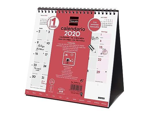 Amazon.com : Finocam - Desktop Calendar 2020 Writing tabs ...
