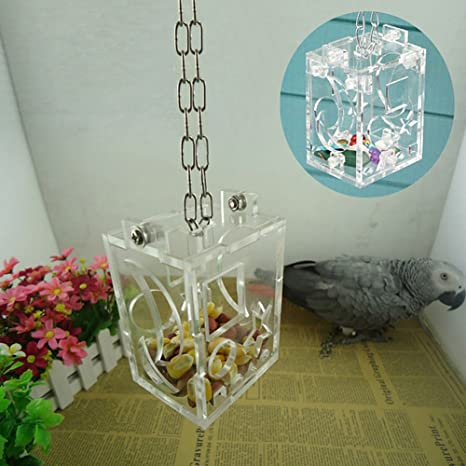 Bluelans DIY Parrot Jaula de pájaros comedero colgante juguetes de ...