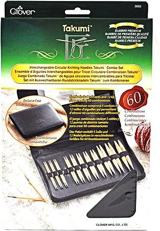 100 cm KnitPro Knit /& Sip Lot daiguilles /à Tricoter circulaires interchangeables 3,5-8 mm 60 80