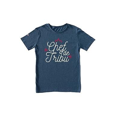 01221899fa43 T-Shirt Homme - Chef de Tribu - Made in France  Amazon.fr  Vêtements ...