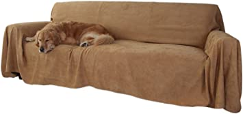 Floppy Ears Design Simple Faux Suede Couch Cover Protector (XXL For Extra  Long Couches,