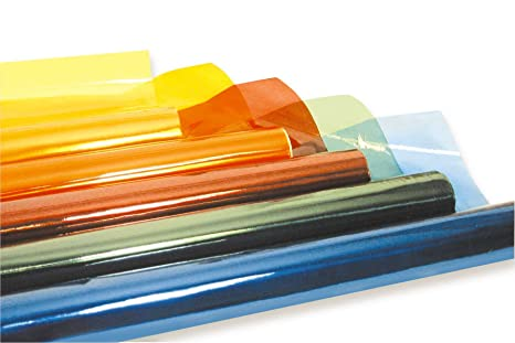 CELLOPHANE COLORATO CM.70X500 - CONF.7 ROTOLI - COL. ASS.:  ...