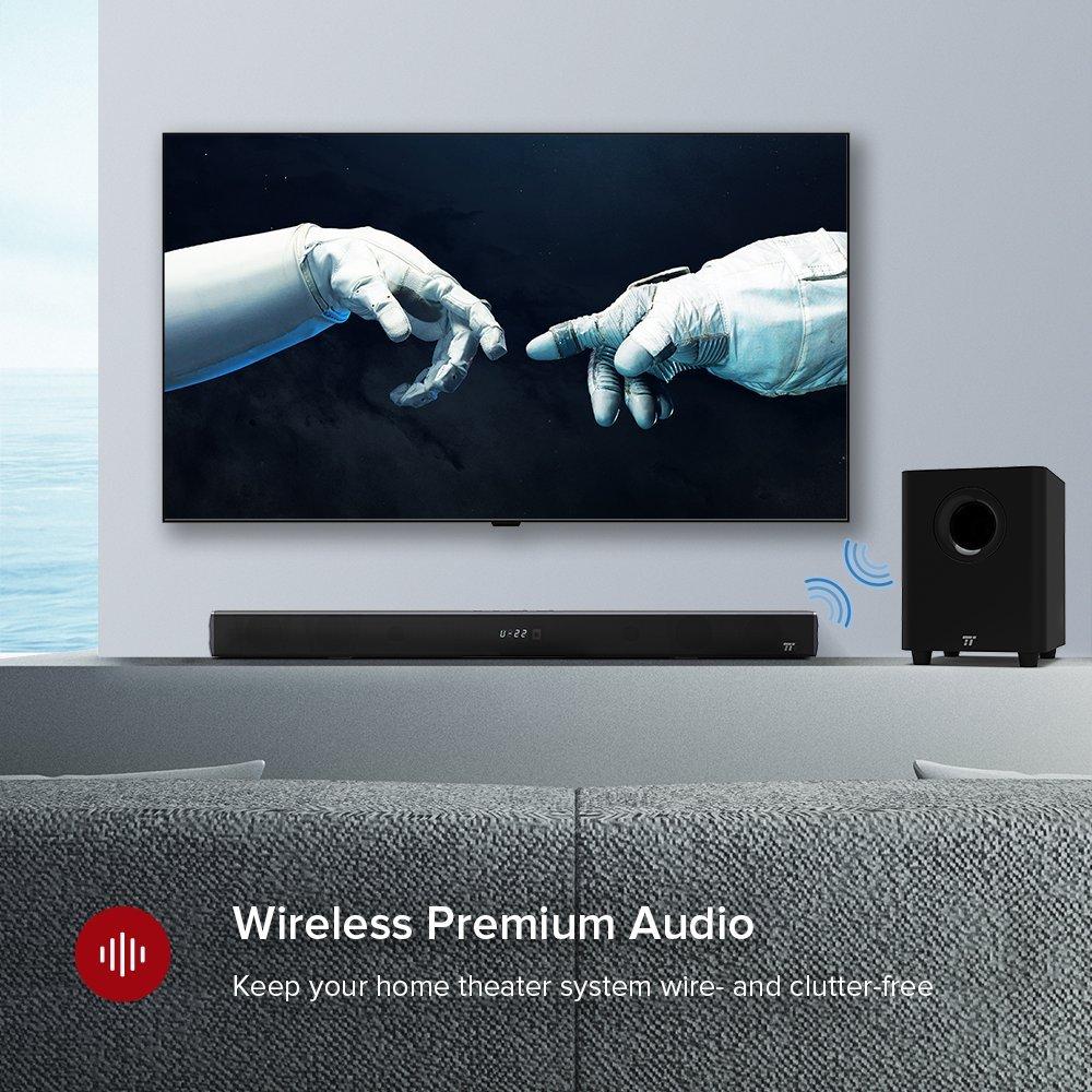 Amazon.com: Soundbar, TaoTronics Sound Bars for TV 120W 2.1 Channel ...