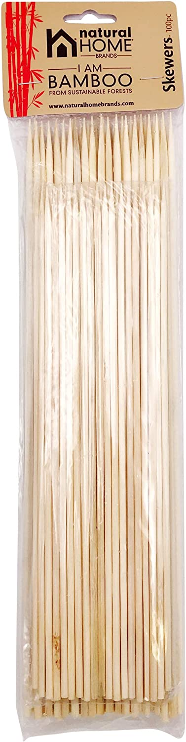 Natural Home Decor Bamboo Skewers, Set of 100