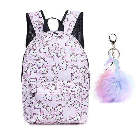 Unicorn Backpack Lightweight Travel Backpack with Free Unicorn Headbands or  Unicorn Keychain