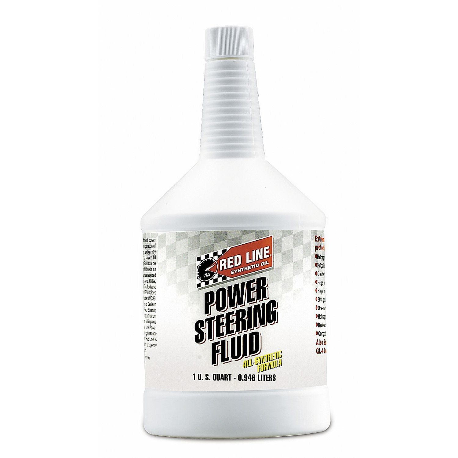 Red Line Power Steering Fluid - Quart (Case 12 Bottles) by Red Line Oil