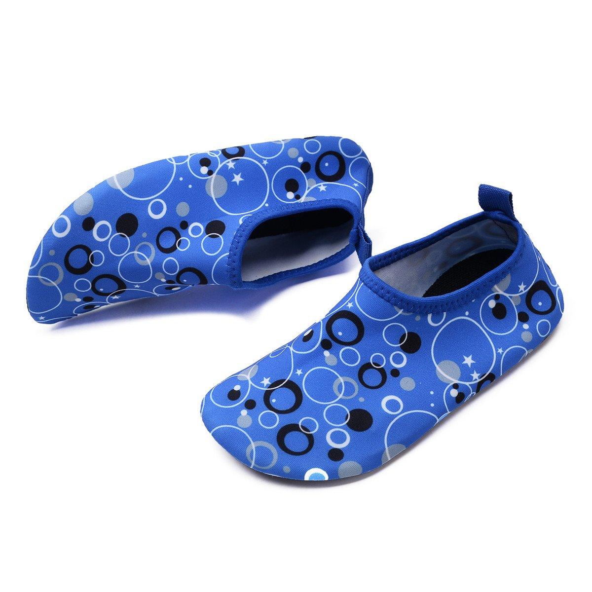 QTMS Kids Boys Girls Water Shoes Barefoot Quick Dry Aqua Socks Swim Shoes Toddler//Little Kid//Big Kid