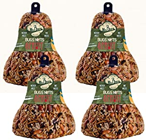 4-Pack of Mr. Bird Bugs, Nuts, Fruit Wild Bird Seed Bell 12.5 oz.