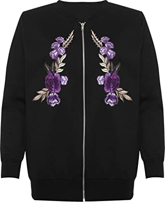 91107c2d84 Amazon.com: REAL LIFE FASHION LTD Womens Floral Embroidered Quilted ...