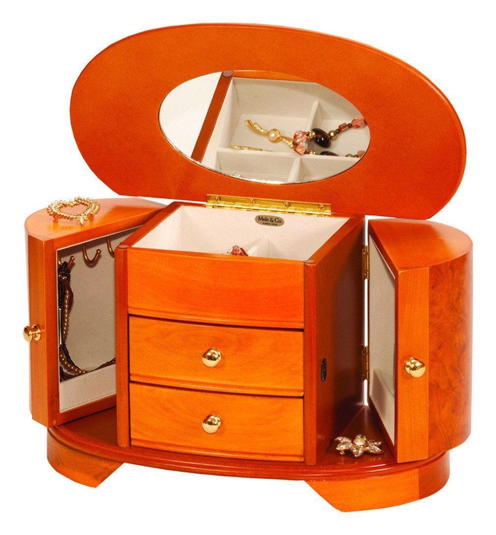 1445 - Portagioielli Scatola custodia Cofanetto porta gioielli portagioie in legno Mele